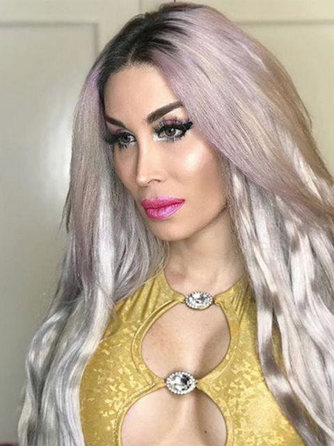 Lip, Hairstyle, Eyebrow, Style, Eyelash, Long hair, Eye liner, Eye shadow, Beauty, Blond,