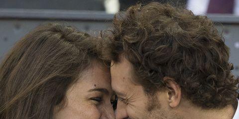Nose, Human, Lip, Happy, Jacket, Tooth, Facial expression, Petal, Interaction, Love,