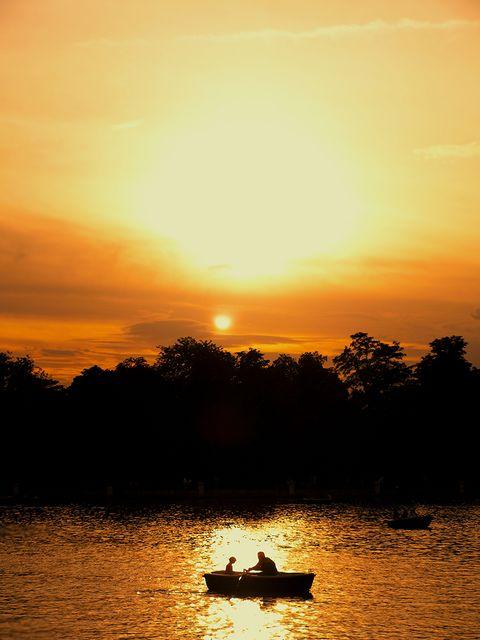 Nature, Sky, Sun, Sunset, Sunrise, Dusk, Waterway, Natural landscape, Afterglow, Evening,