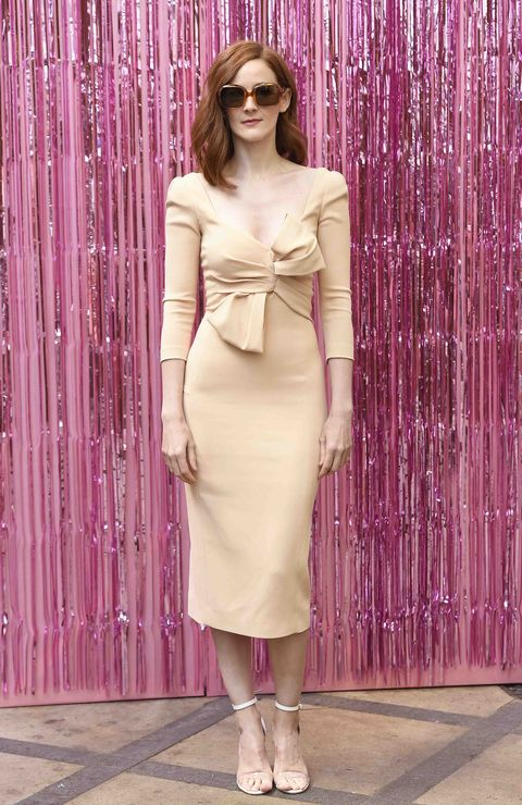Clothing, Sleeve, Shoulder, Textile, Joint, Magenta, Pink, Waist, Style, Dress,