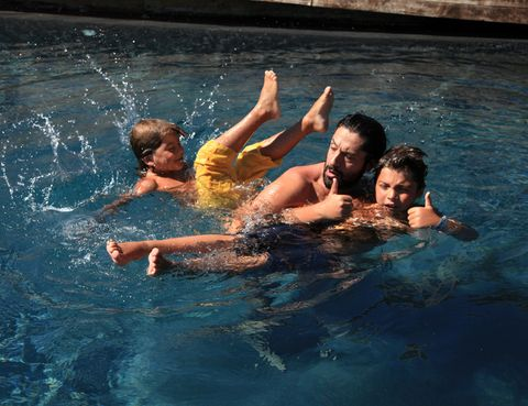Fun, Water, Recreation, Leisure, Summer, People in nature, Vacation, Muscle, Swimming pool, Bathing,