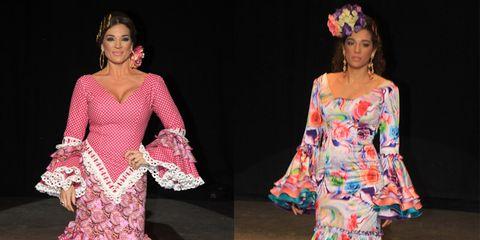 Textile, Pink, Style, Dress, Magenta, Pattern, Fashion, Neck, One-piece garment, Costume design,