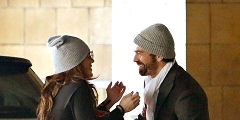 Cap, Headgear, Interaction, Beard, Gesture, Conversation, Beanie, Facial hair, Bonnet, Knit cap,