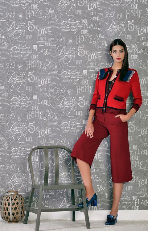 Clothing, Sleeve, Collar, Style, Fashion accessory, High heels, Knee, Street fashion, Blackboard, Pattern,