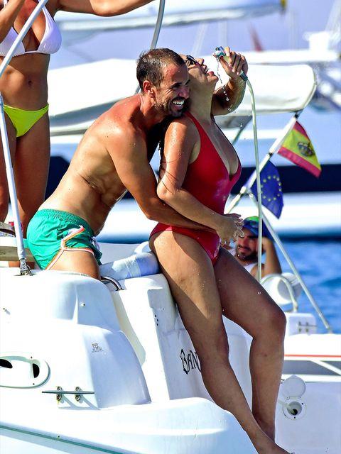 Bikini, Vacation, Leg, Swimwear, Undergarment, Vehicle, Muscle, Fun, Boat, Recreation,
