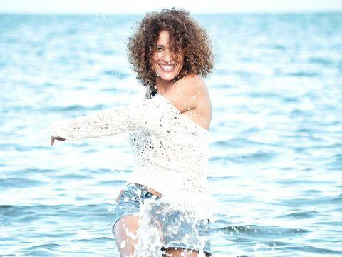 Human body, Water, Happy, Liquid, Leisure, Summer, People in nature, Ocean, Elbow, Fluid,