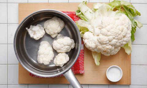 Ingredient, Food, Cuisine, Kitchen utensil, Dish, Produce, Spoon, Cauliflower, Vegetable, Natural foods,
