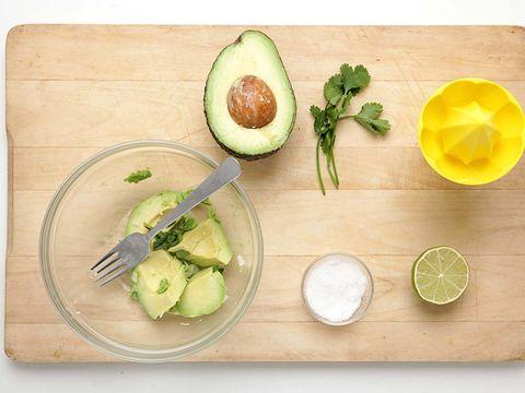 Food, Ingredient, Avocado, Key lime, Produce, Cutting board, Vegetable, Dish, Lime, Garnish,