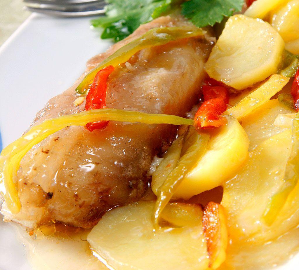 Patata Porner patatas con rape y almejas