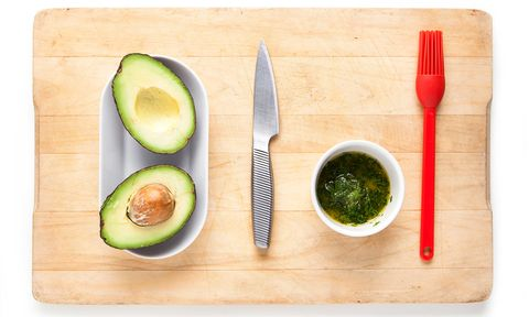 Green, Food, Dishware, Ingredient, Tableware, Produce, Cutlery, Serveware, Kitchen utensil, Plate,