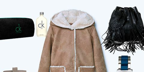 Product, Brown, Sleeve, Textile, Jacket, Costume accessory, Fashion, Watch, Natural material, Tan,