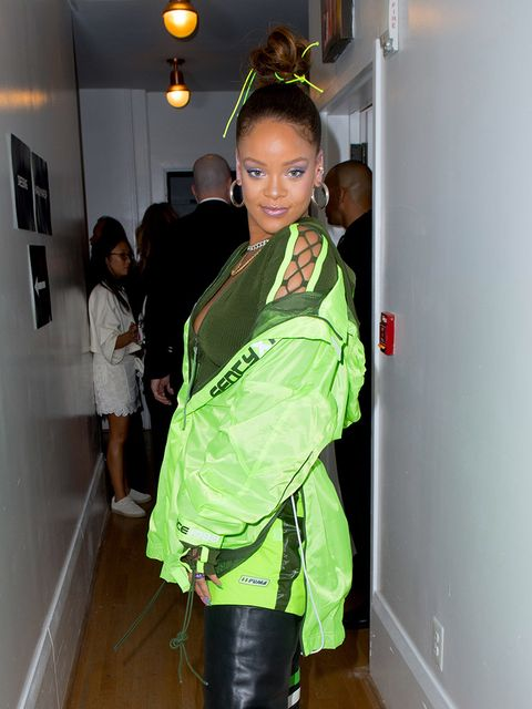 Green, Outerwear, Shoulder, Fashion, Costume, Personal protective equipment, Jacket, Fashion design, Black hair, Plant,
