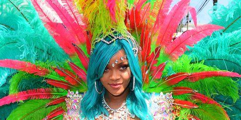 Samba, Carnival, Festival, Feather, Dance, Event, Performing arts, Fashion accessory, Smile,