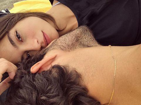 Hair, Face, Lip, Skin, Beauty, Nose, Head, Eyebrow, Long hair, Close-up,