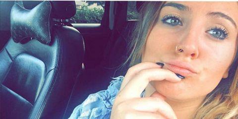 Face, Lip, Hair, Skin, Eyebrow, Nose, Beauty, Blue, Head, Selfie,