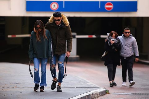 Fashion, Street fashion, Human, Footwear, Urban area, Pedestrian, Street, Infrastructure, Photography, Jeans,