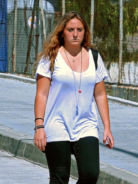 White, Jeans, Clothing, Blue, Shoulder, Beauty, Denim, Street fashion, Fashion, T-shirt,
