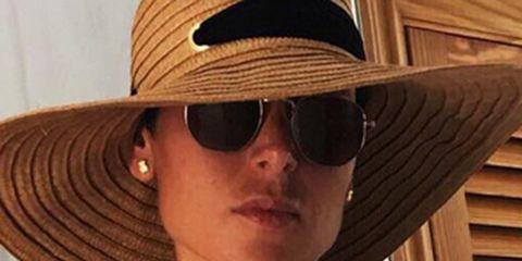 Eyewear, Hat, Clothing, Cool, Sun hat, Sunglasses, Glasses, Fashion accessory, Headgear, Neck,