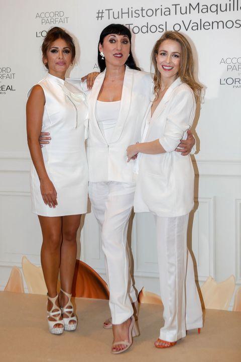White, Clothing, Fashion, Beauty, Dress, Fashion design, Fashion model, Leg, Cocktail dress, Uniform,