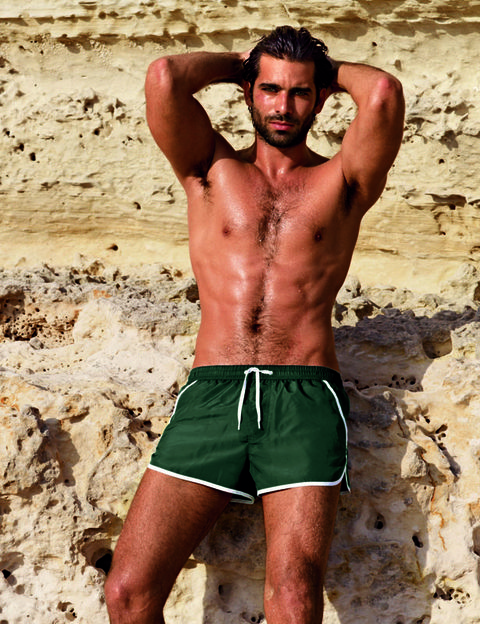 Human body, Active shorts, Barechested, Shorts, board short, Muscle, Trunks, Chest, Facial hair, Trunk,