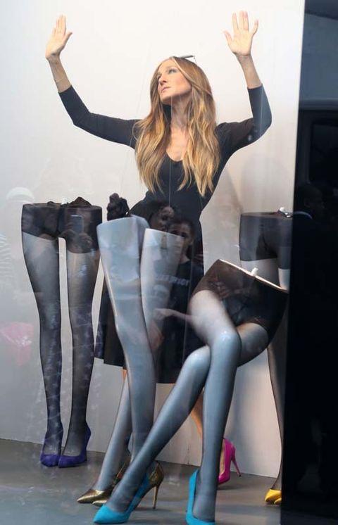 Leg, Finger, Human leg, Joint, Thigh, Fashion, Stocking, Knee, Tights, Blond,