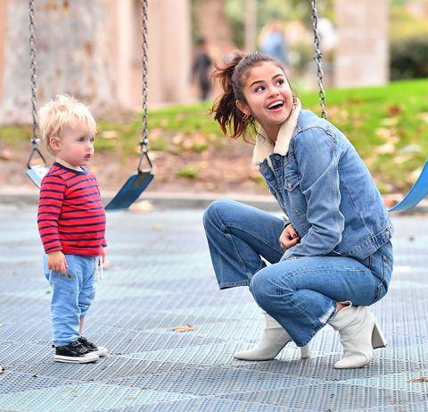 Photograph, Swing, People, Child, Jeans, Denim, Toddler, Snapshot, Photography, Street fashion,