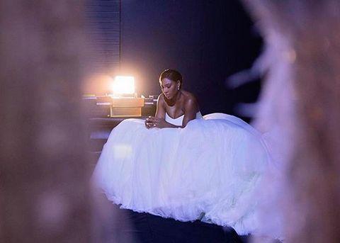 Photograph, Beauty, Dress, Bride, Purple, Wedding dress, Photography, Event, Gown, Flash photography,