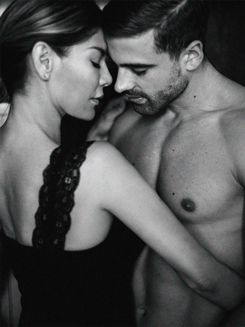 Interaction, Lip, Barechested, Chest, Muscle, Romance, Gesture, Love, Black-and-white, Photography,