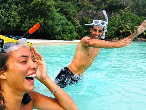 Nose, Fun, Recreation, Water, Leisure, Summer, Personal protective equipment, Outdoor recreation, Headgear, Swimming pool,