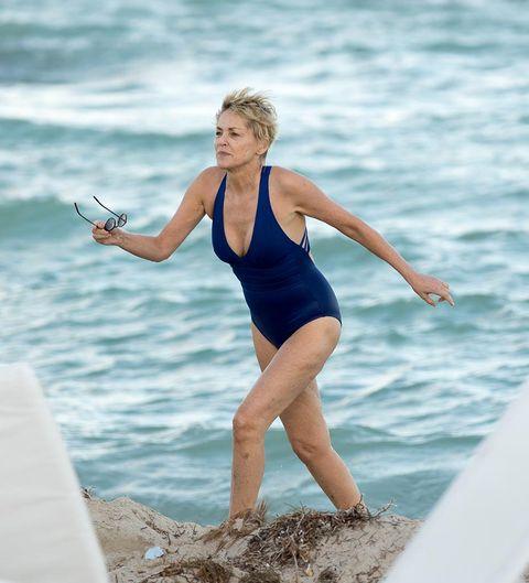 Water, Swimwear, Fun, Beauty, Vacation, Blond, Leg, Summer, Sea, One-piece swimsuit,