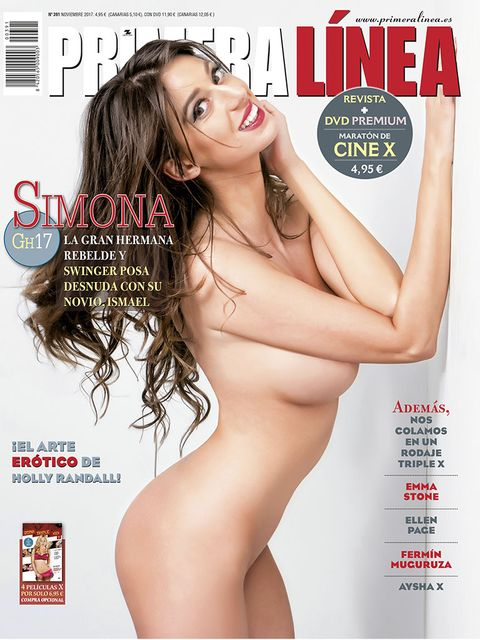 Magazine, Leg, Thigh, Publication, Muscle, Brown hair, Flesh, Model,