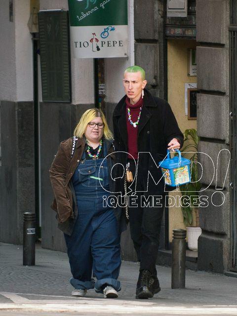 Snapshot, Standing, Jacket, Leather jacket, Street, Pedestrian,