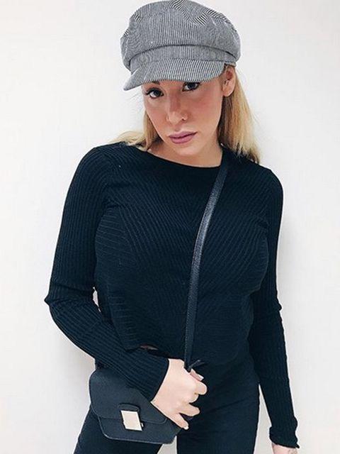 Clothing, Cap, Sleeve, Shoulder, Textile, Joint, Standing, Dress, Waist, Elbow,
