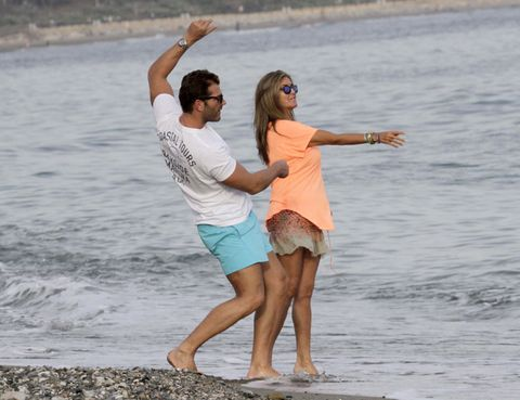 Fun, People on beach, Water, Happy, Leisure, People in nature, Summer, Rejoicing, Barefoot, Sunglasses,