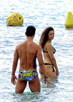 People on beach, Bikini, Fun, Swimwear, Vacation, Clothing, Barechested, Summer, Yellow, Undergarment,