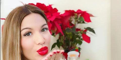 Lip, Petal, Red, Eyelash, Beauty, Carmine, Nail, Lipstick, Body jewelry, Eye liner,