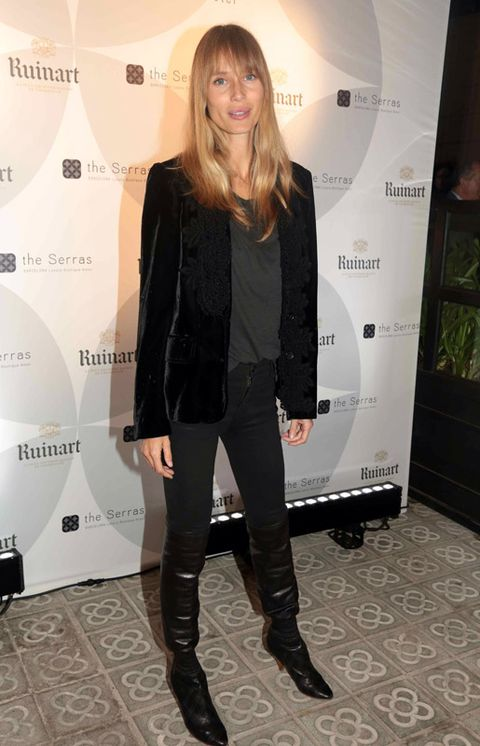Clothing, Sleeve, Outerwear, Boot, Style, Knee-high boot, Fashion, Knee, Leather, Thigh,