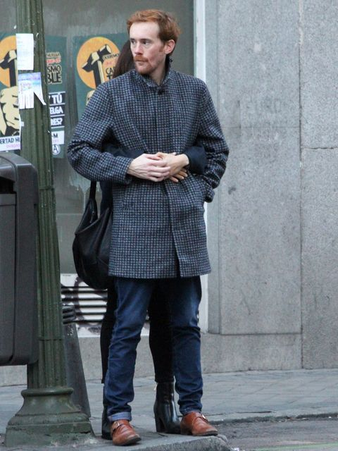Clothing, Sleeve, Trousers, Standing, Textile, Outerwear, Denim, Jeans, Style, Street fashion,