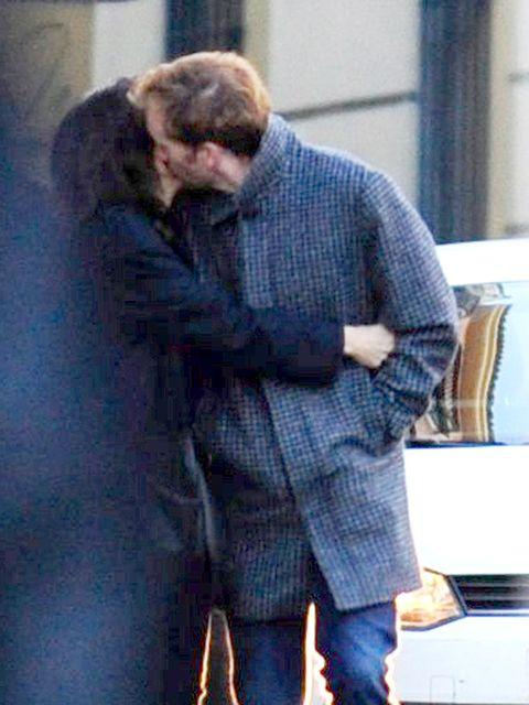 Photograph, Interaction, Romance, Love, Beard, Kiss, Pocket, Gesture, Tartan, Hug,