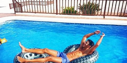 Swimming pool, Fun, Water, Leisure, Fluid, Aqua, Azure, Muscle, Composite material, Swimwear,