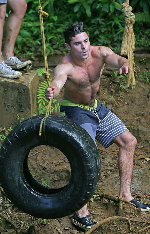 Automotive tire, Human, Leg, Human leg, Chin, Shoe, Synthetic rubber, Chest, Tread, Muscle,