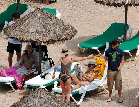 Leg, Tourism, Leisure, Thatching, Summer, Hat, Vacation, Sand, Slipper, Shade,