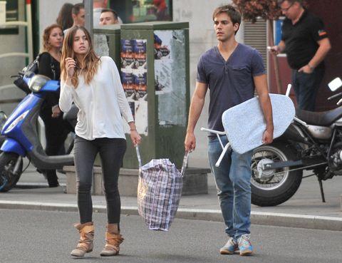 Clothing, Footwear, Tire, Leg, Trousers, Shoe, Outerwear, Bag, Style, Fender,