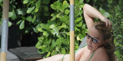 Eyewear, Vision care, Glasses, Goggles, Sunglasses, Summer, Sitting, Chest, Muscle, Blond,