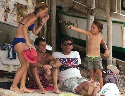 Arm, Leg, Fun, Human body, Summer, Barechested, Chest, Shorts, Vacation, Barefoot,
