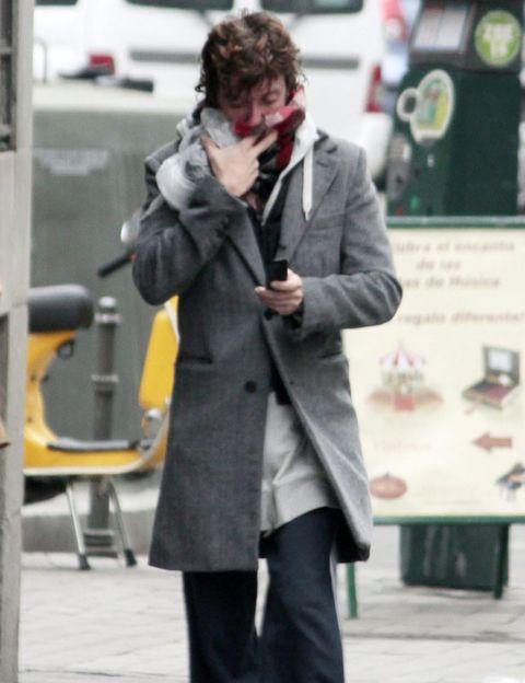 Human body, Coat, Standing, Street fashion, Suit trousers, Winter, Blazer, Jacket, Overcoat, Snapshot,