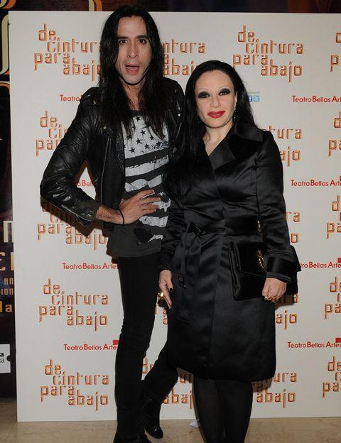 Mouth, Style, Dress, Fashion, Black, Jacket, Black hair, Leather, Leather jacket, Little black dress,