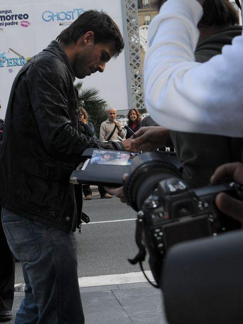 Lens, Camera, Jeans, Video camera, Digital camera, Denim, Camera lens, Jacket, Film camera, Cameras & optics,