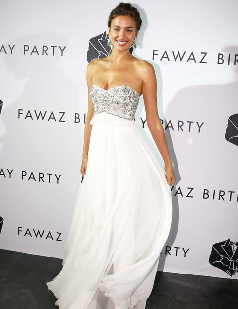 Clothing, Sleeve, Dress, Shoulder, Joint, White, Happy, Formal wear, Facial expression, Style,