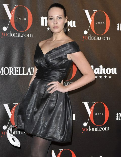 Clothing, Dress, Human body, Style, Cocktail dress, Formal wear, Logo, Fashion, Fashion model, Black,